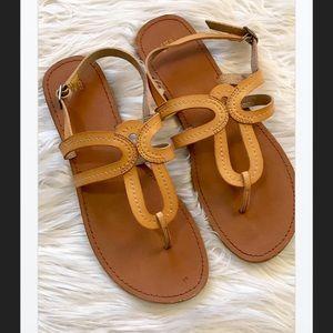 Cute! GAP Leather Flat Sandals, 10